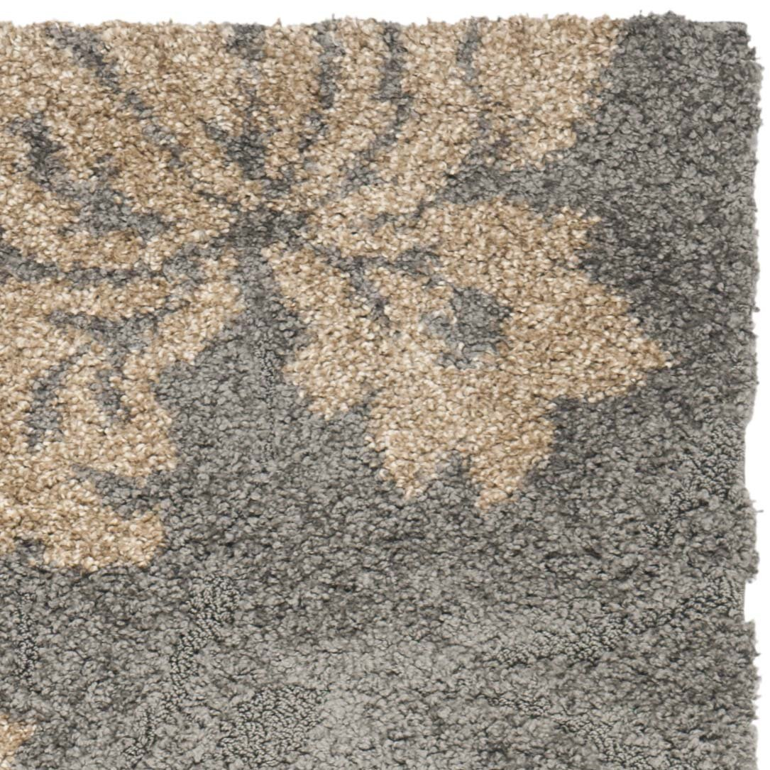 Safavieh florida shag grey beige area rug reviews wayfair for Grey and tan rug