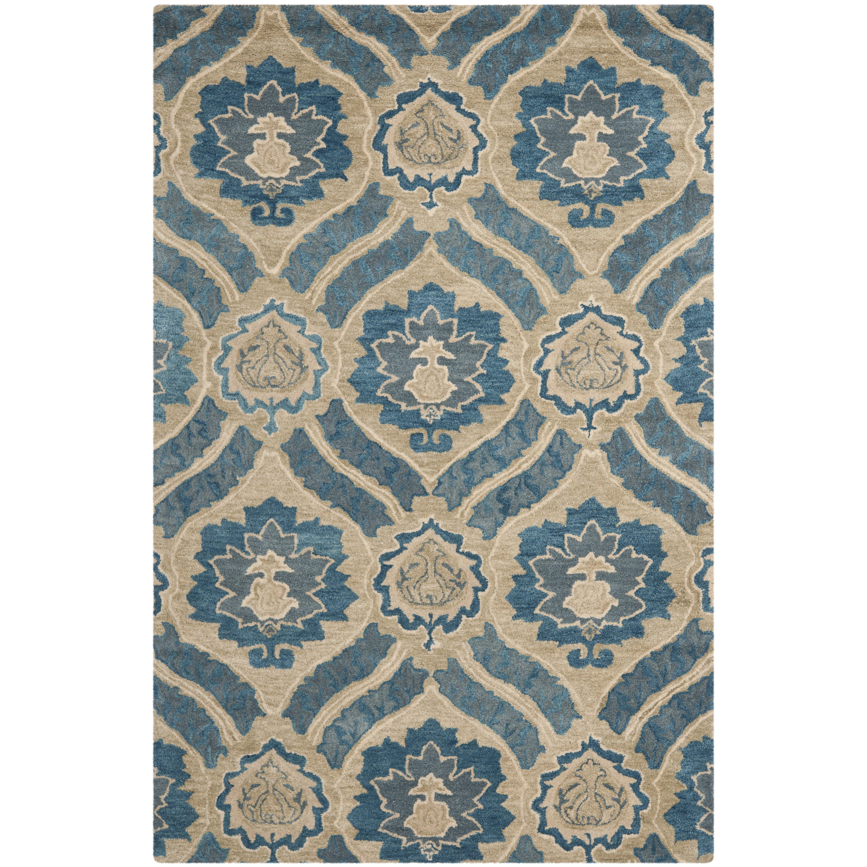 safavieh wyndham blue grey rug reviews wayfair. Black Bedroom Furniture Sets. Home Design Ideas
