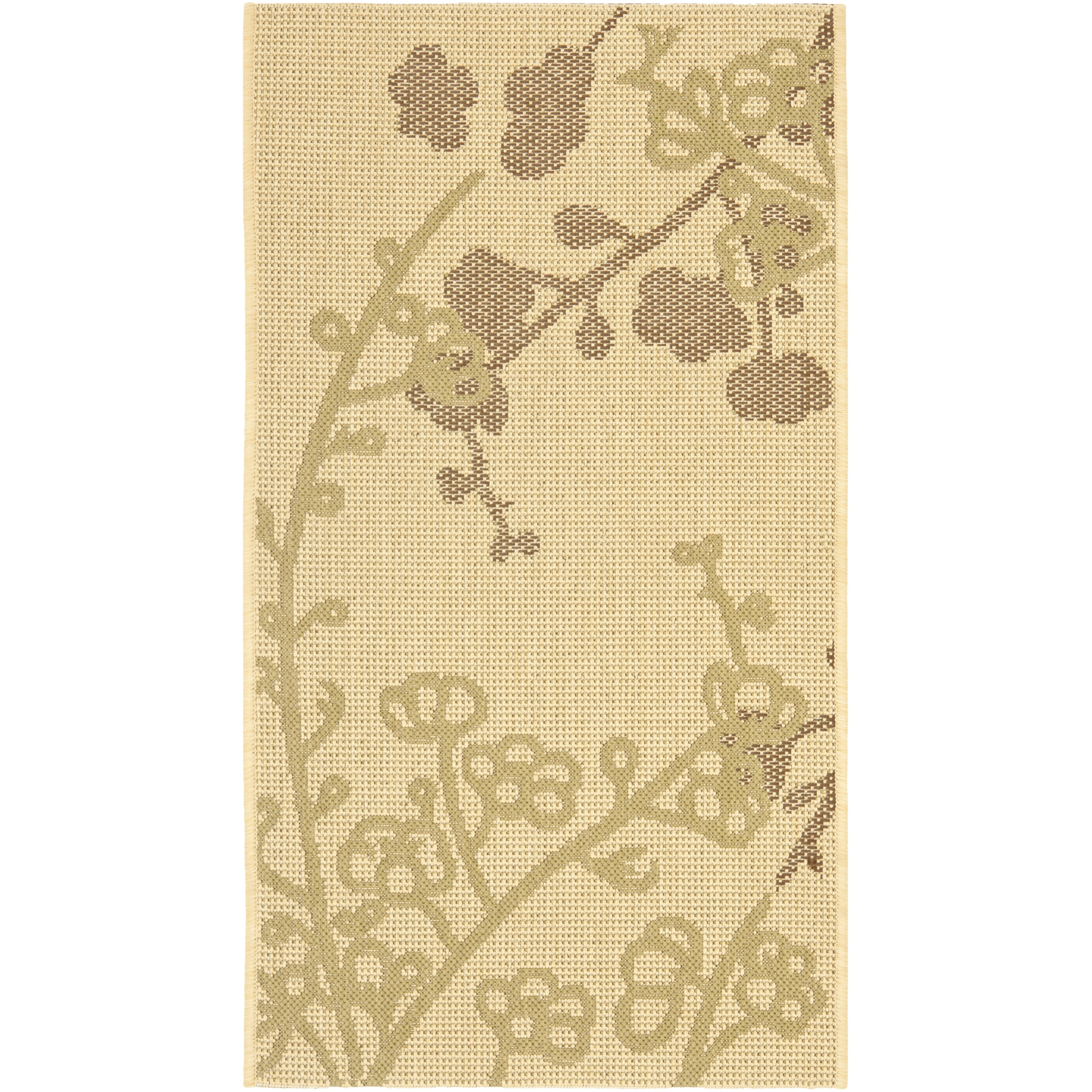Courtyard Natural Olive Outdoor Area Rug