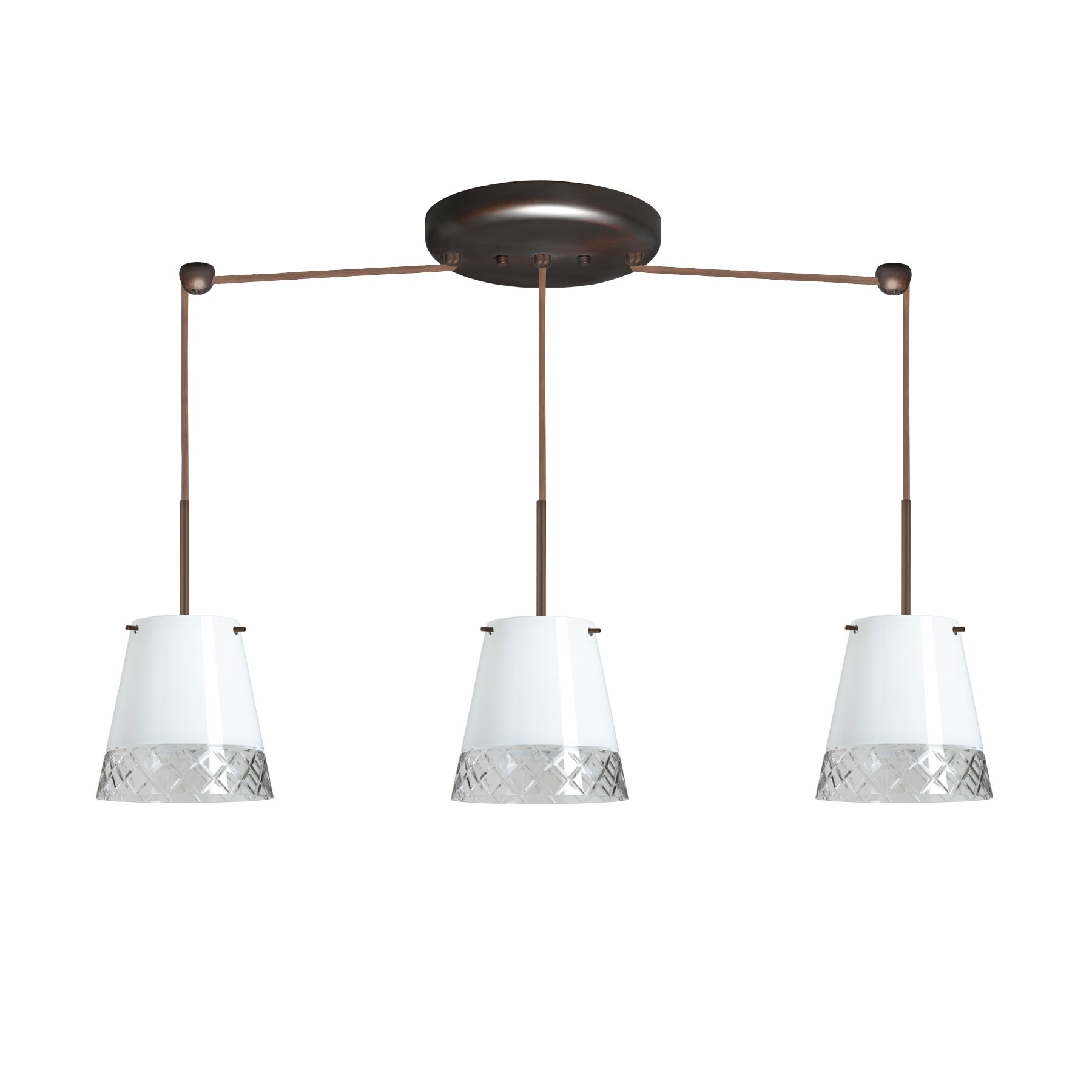 Tech Lighting Essence Trio Linear: Amelia 3 Light Linear Pendant