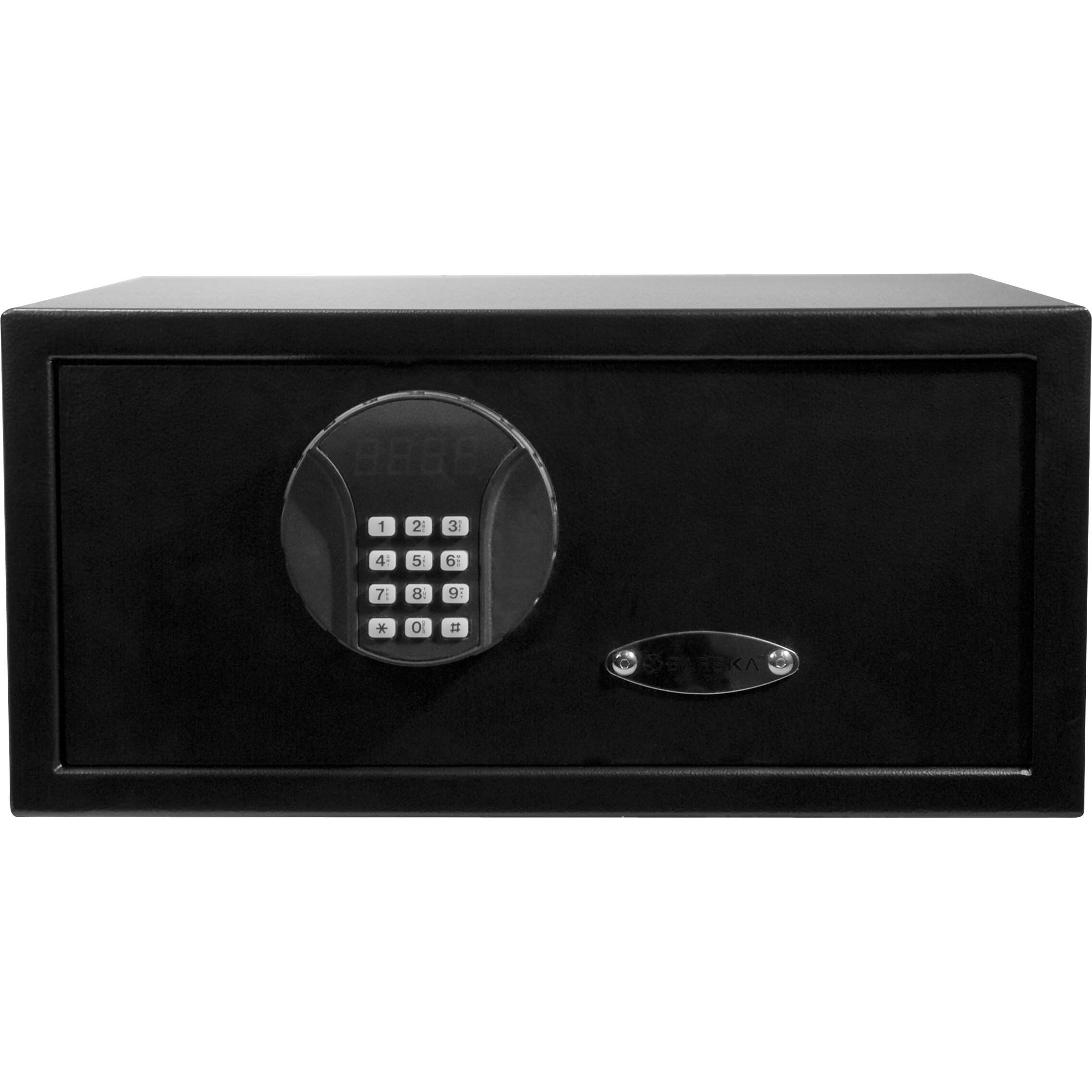 digital keypad lock wall safe wayfair. Black Bedroom Furniture Sets. Home Design Ideas