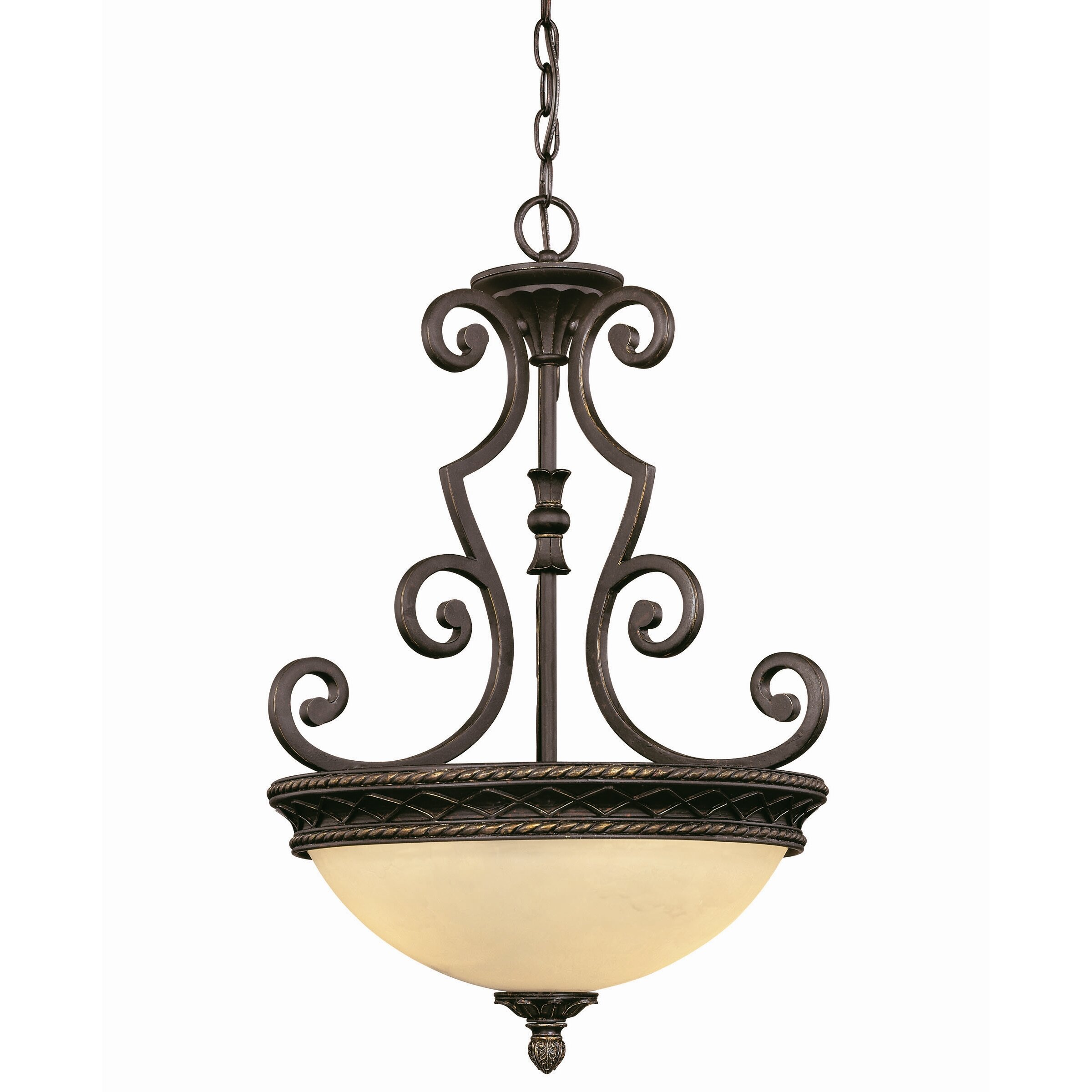 knight 2 light bowl inverted pendant by savoy house. Black Bedroom Furniture Sets. Home Design Ideas