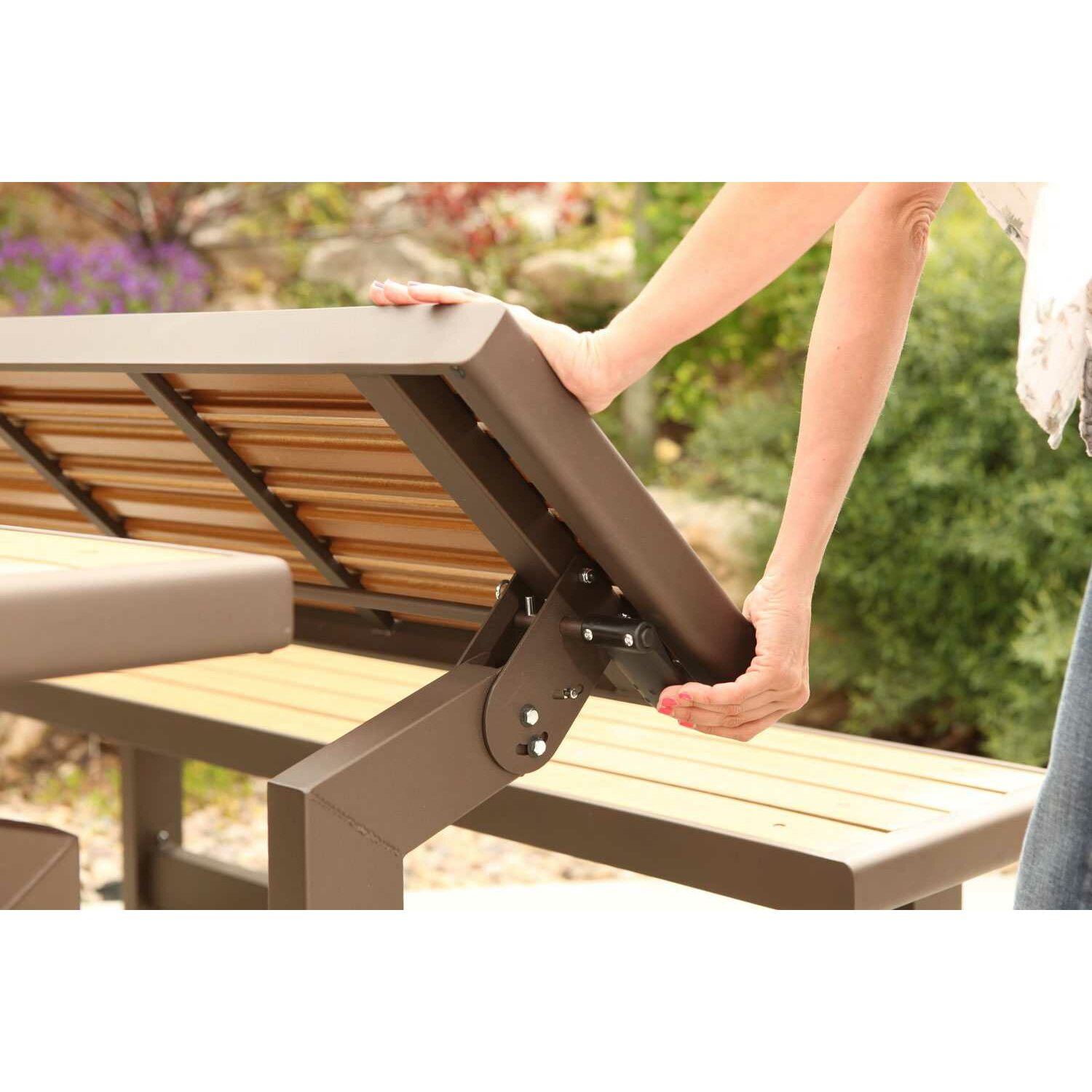 Lifetime Convertible Wood And Metal Park Bench Amp Reviews