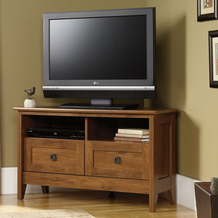 Sauder August Hill Corner Tv Stand Amp Reviews Wayfair