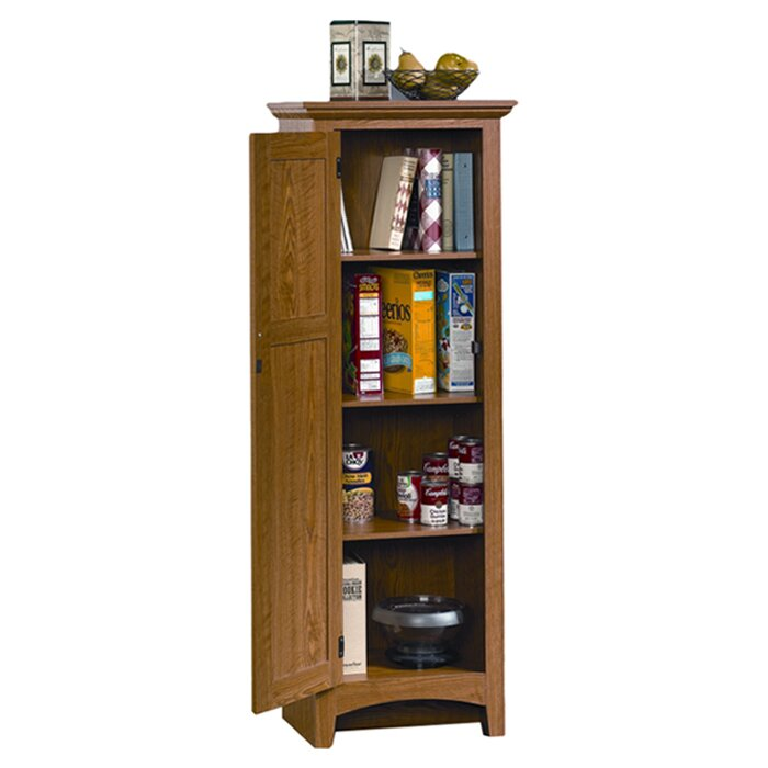 Sauder Pantry Cabinet With Sauder Summer Home Uquot Kitchen Pantry Uamp  Reviews Wayfair With Corner Pantry