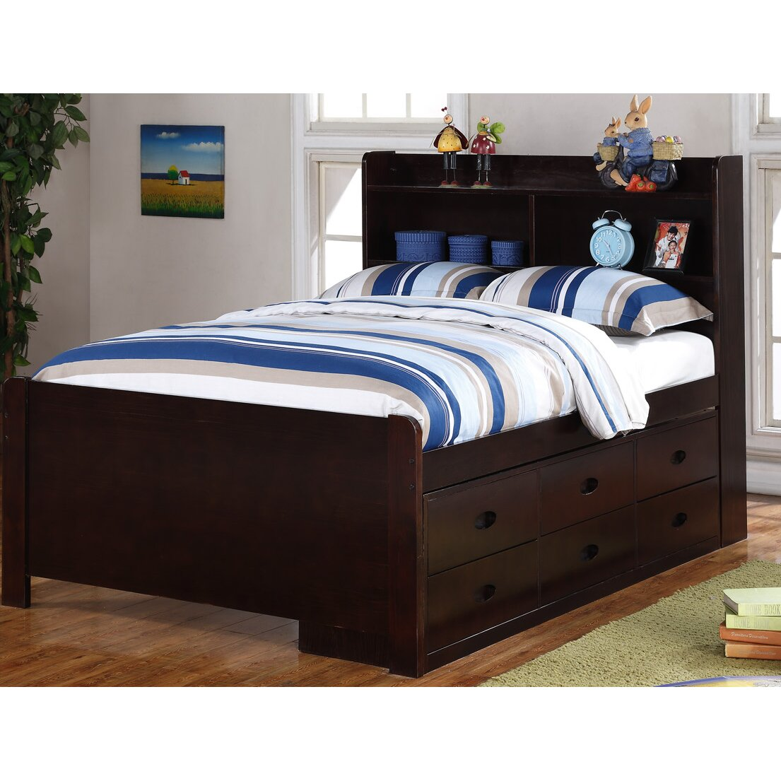 boraam captain bed with storage reviews wayfair. Black Bedroom Furniture Sets. Home Design Ideas