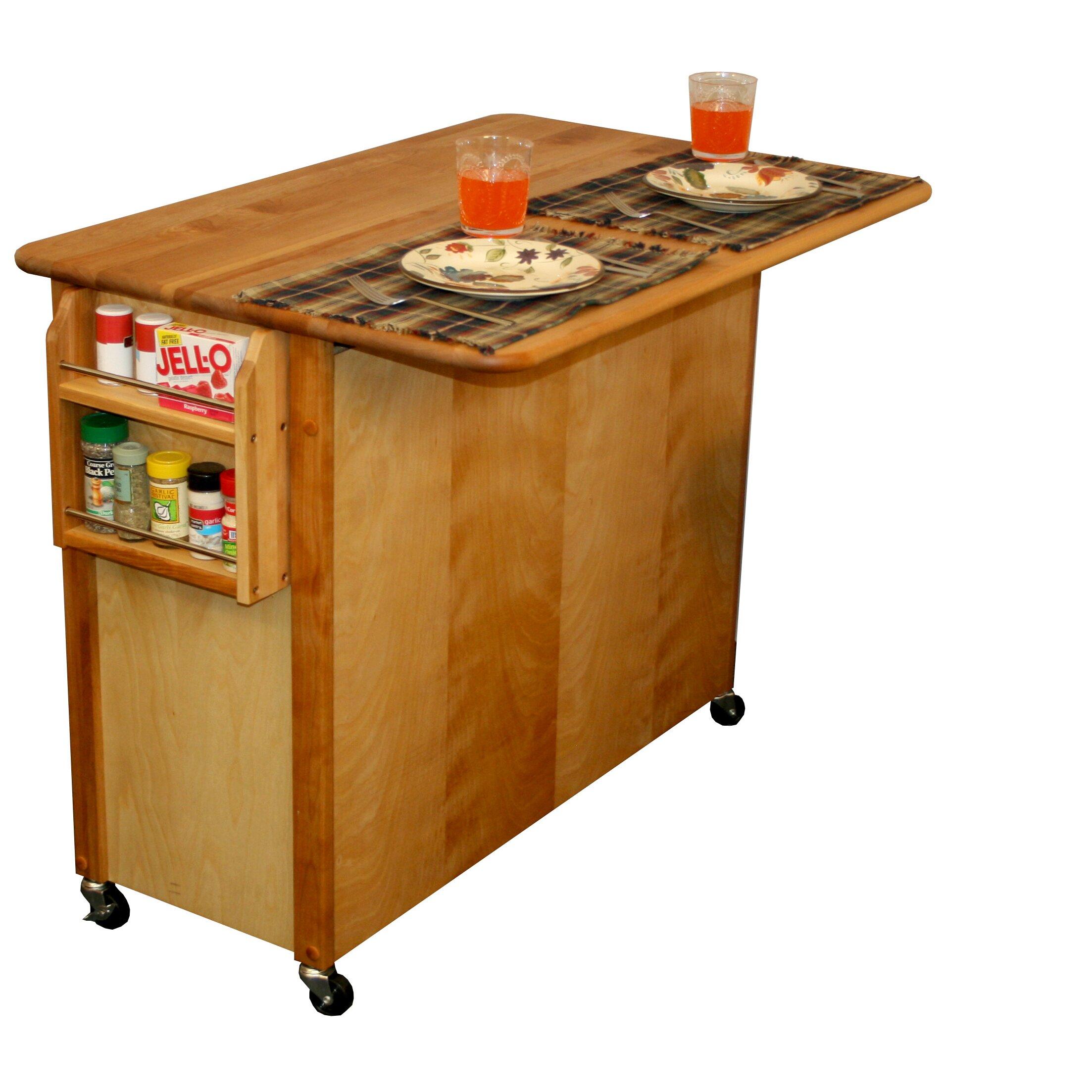 catskill craftsmen kitchen island amp reviews wayfair catskill craftsmen kitchen island with butcher block top