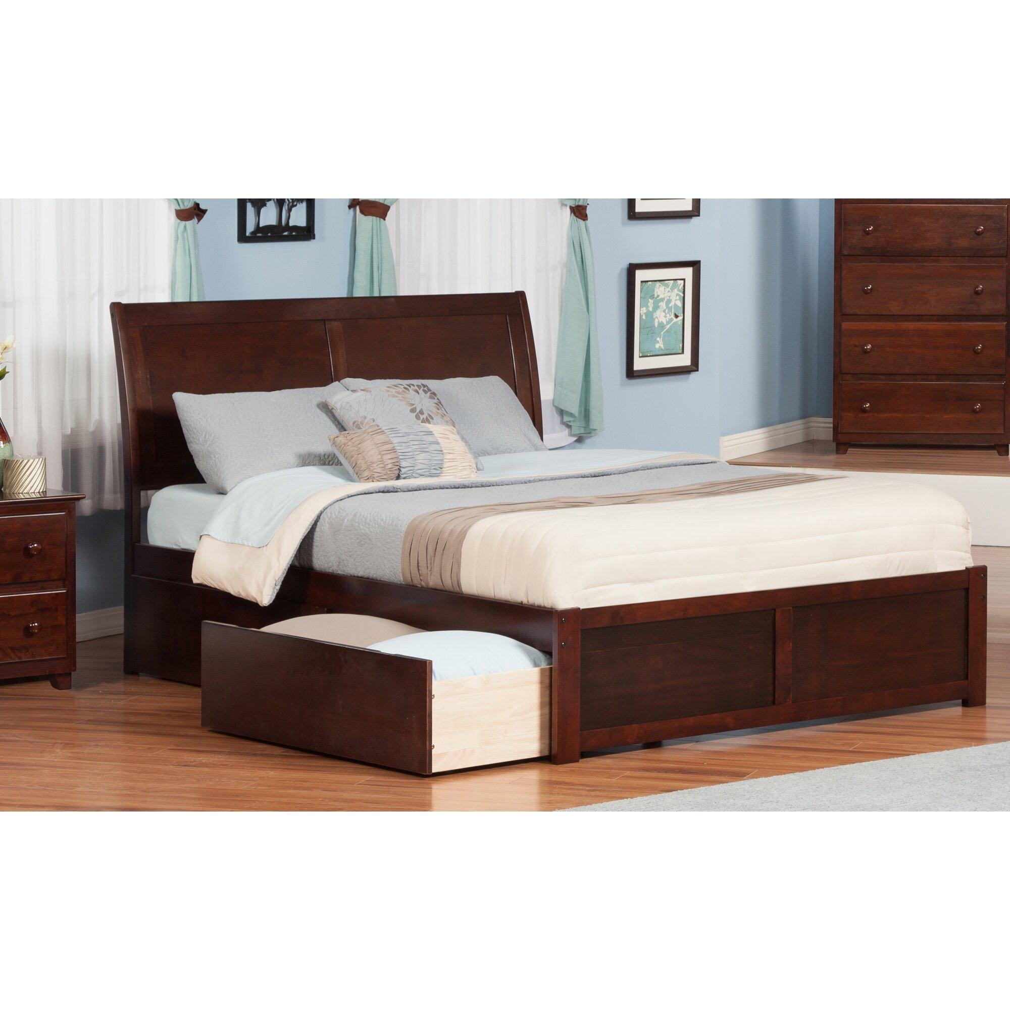 atlantic furniture portland storage sleigh bed reviews wayfair. Black Bedroom Furniture Sets. Home Design Ideas