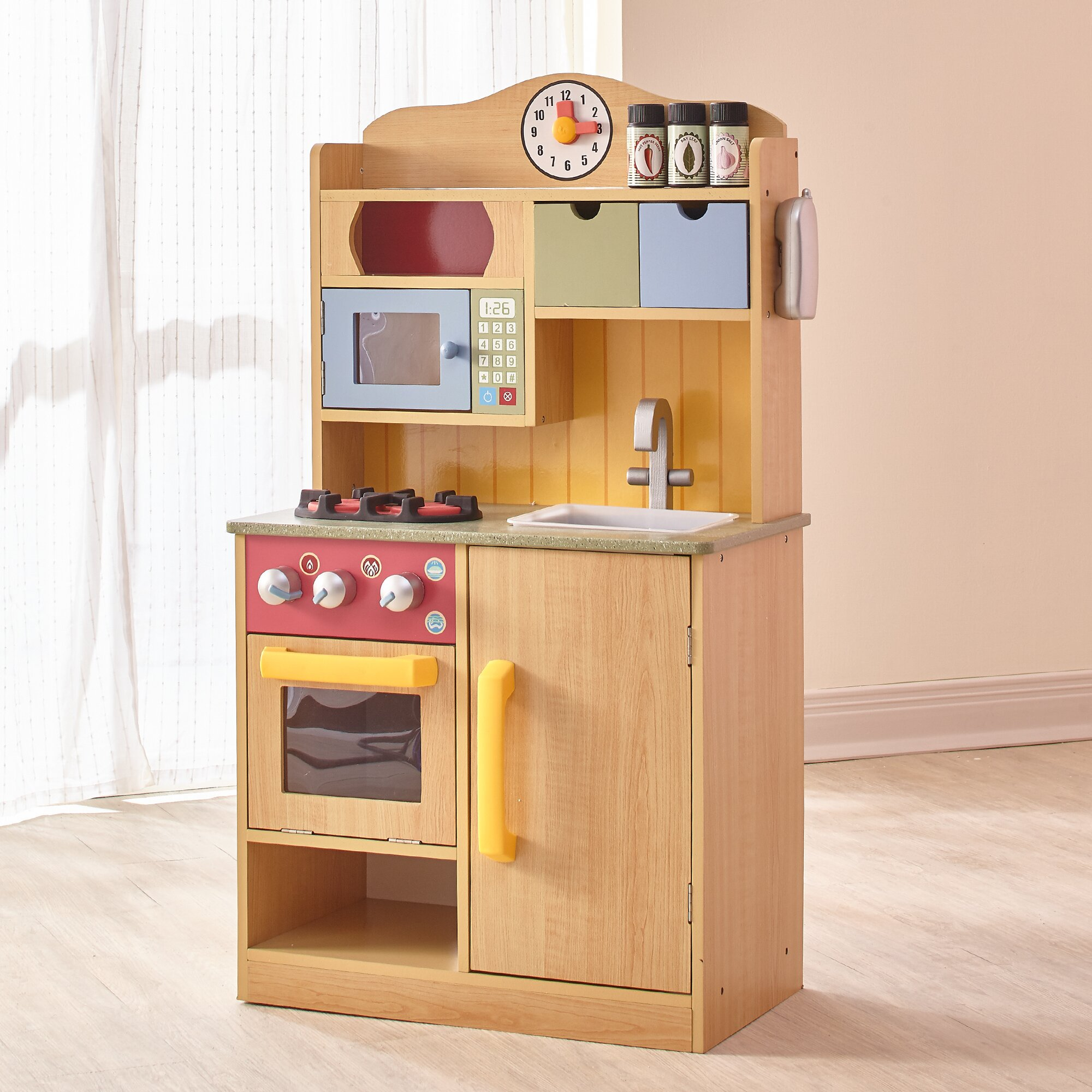 Teamson Kids Little Chef Wooden Play Kitchen With Accessories Reviews Wayfair