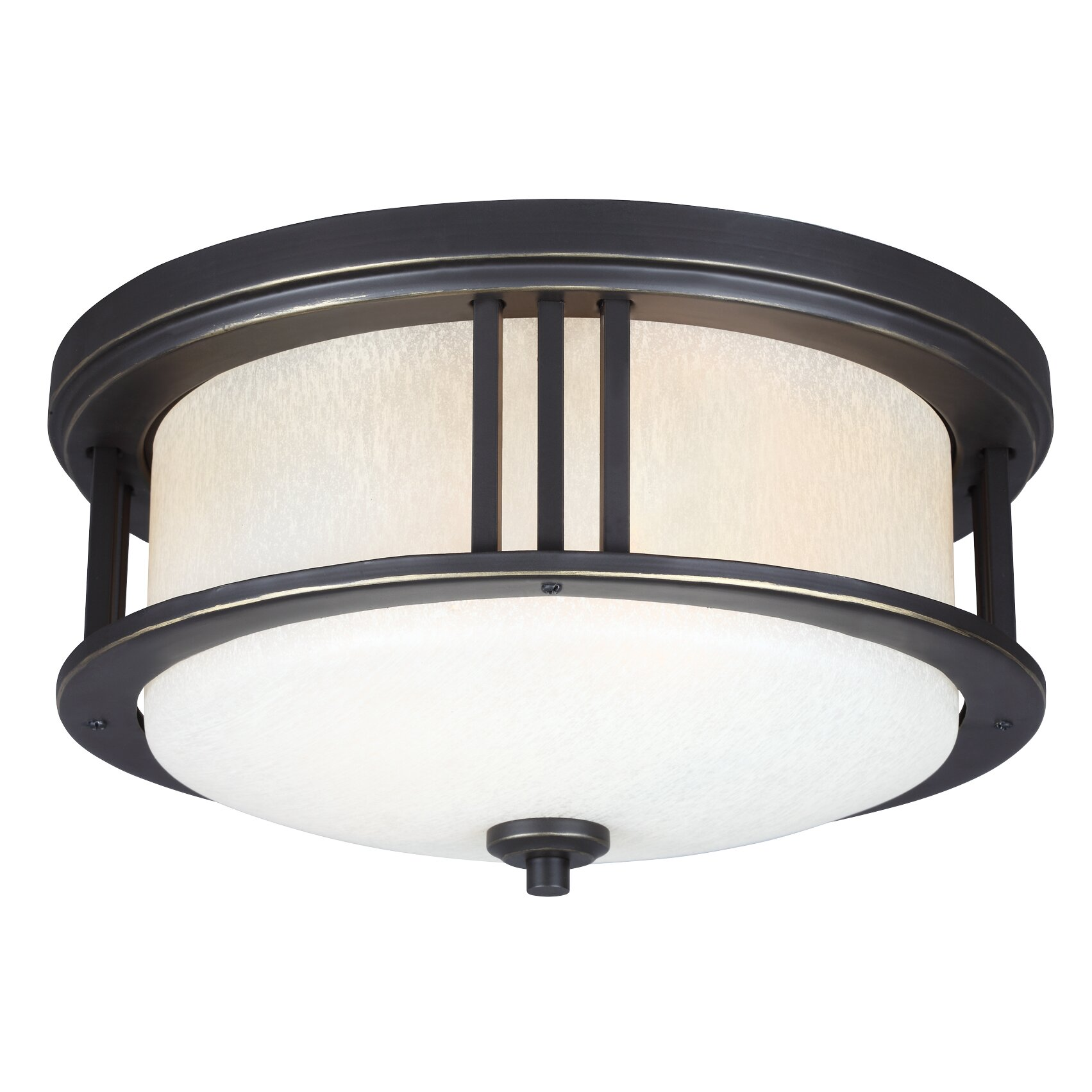 Crowell 2 Light Outdoor Ceiling Flush Mount