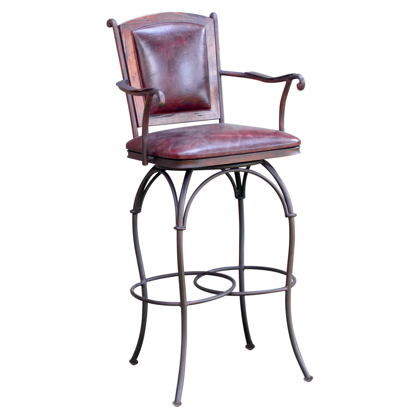 Artisan Home Furniture 30 Swivel Bar Stool With Cushion Reviews Wayfair