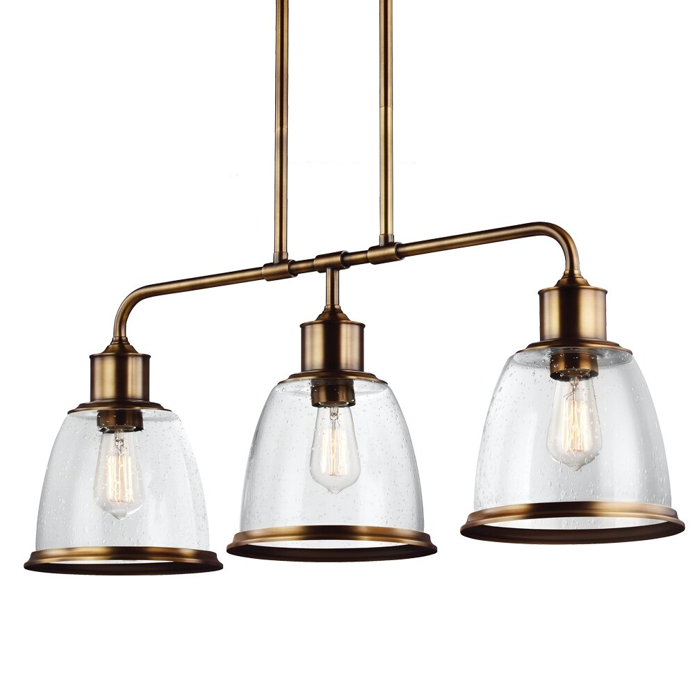 Kitchen Island Lantern Pendants: Feiss Hobson 3 Light Kitchen Island Pendant & Reviews