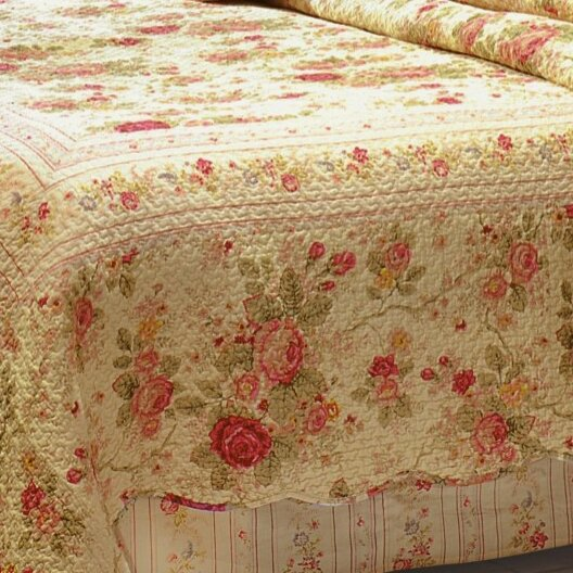 Greenland Home Fashions Antique Rose Piece Quilt