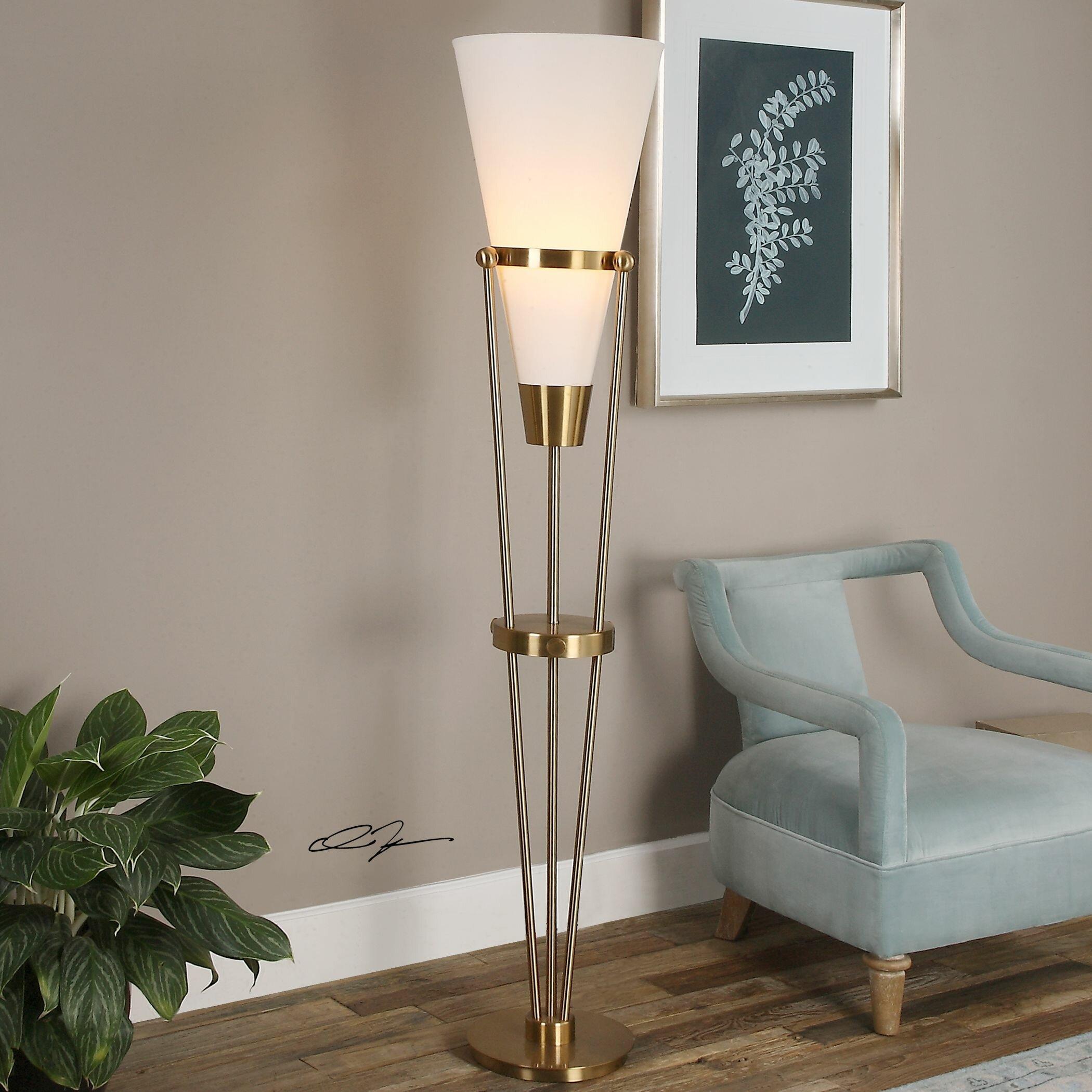 Uttermost Bergolo 71 25 Quot Torchiere Floor Lamp Amp Reviews
