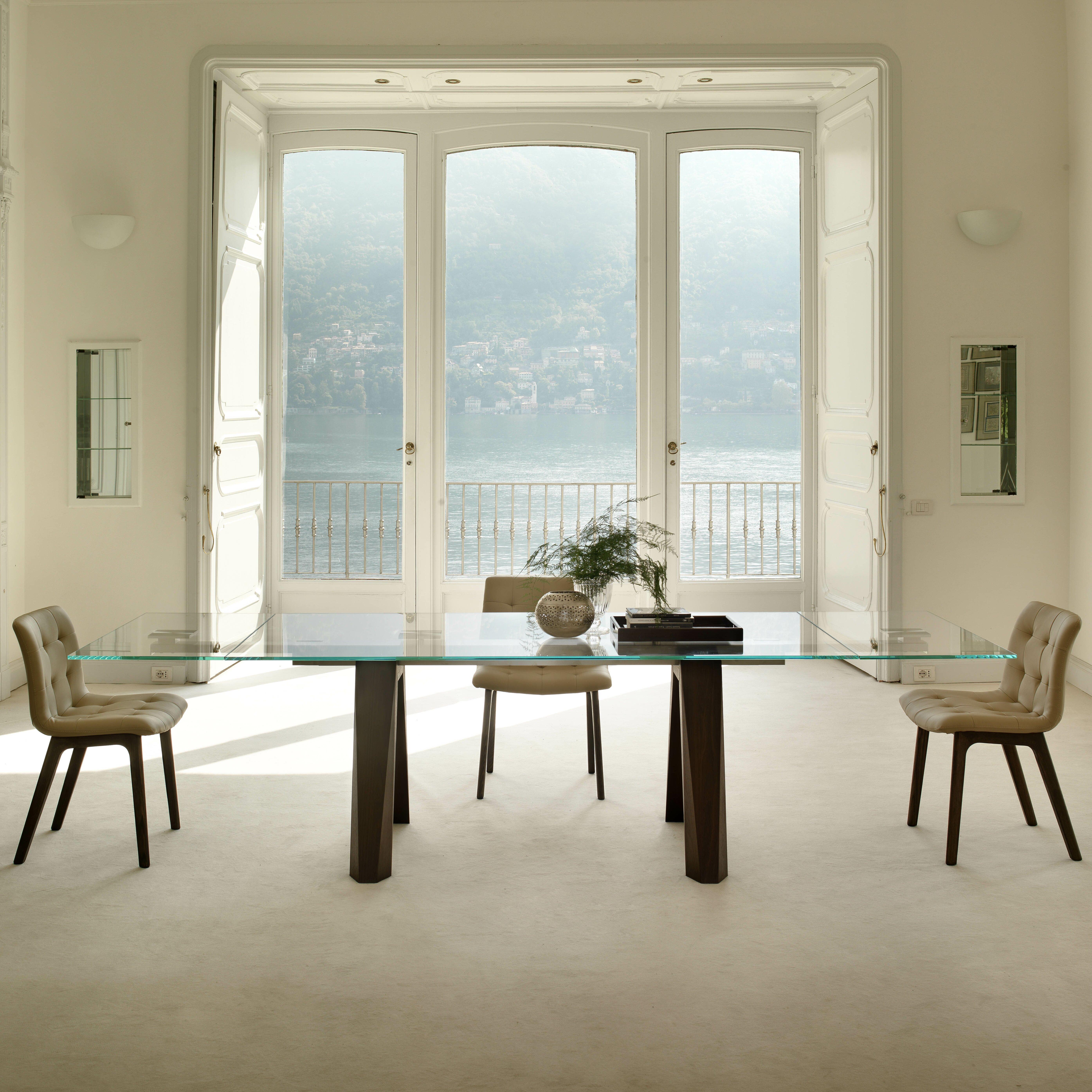 bontempi casa aron extendable dining table reviews wayfair. Black Bedroom Furniture Sets. Home Design Ideas