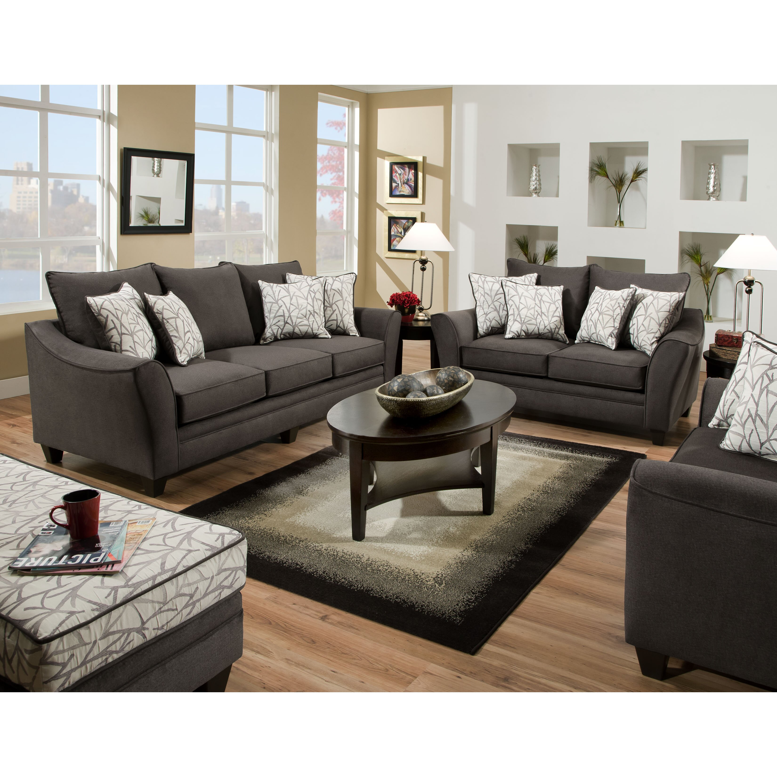 American Furniture Flannel Living Room Collection