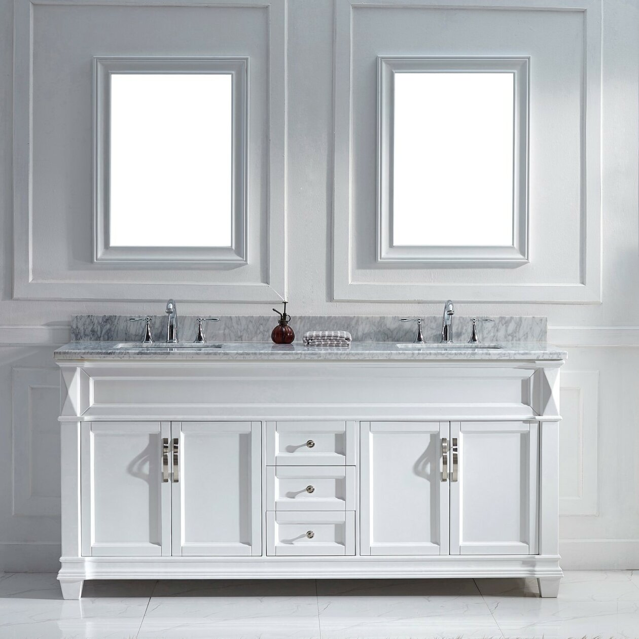 Victoria 72 Double Bathroom Vanity Set With Mirror Wayfair