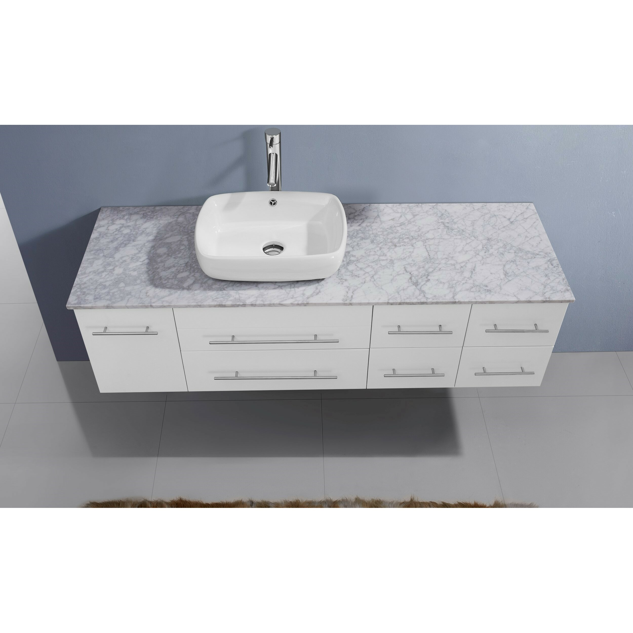 Awesome Virtu Ultra Modern Series 60quot Single Bathroom Vanity Set With Mirror