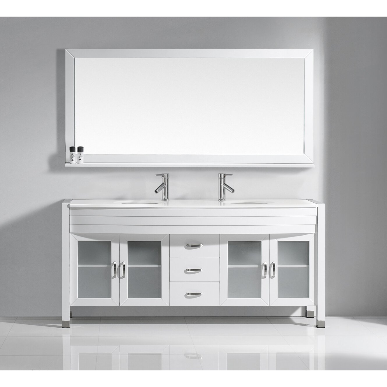 Simple Virtu Ultra Modern Series 29quot Single Bathroom Vanity Set With Mirror