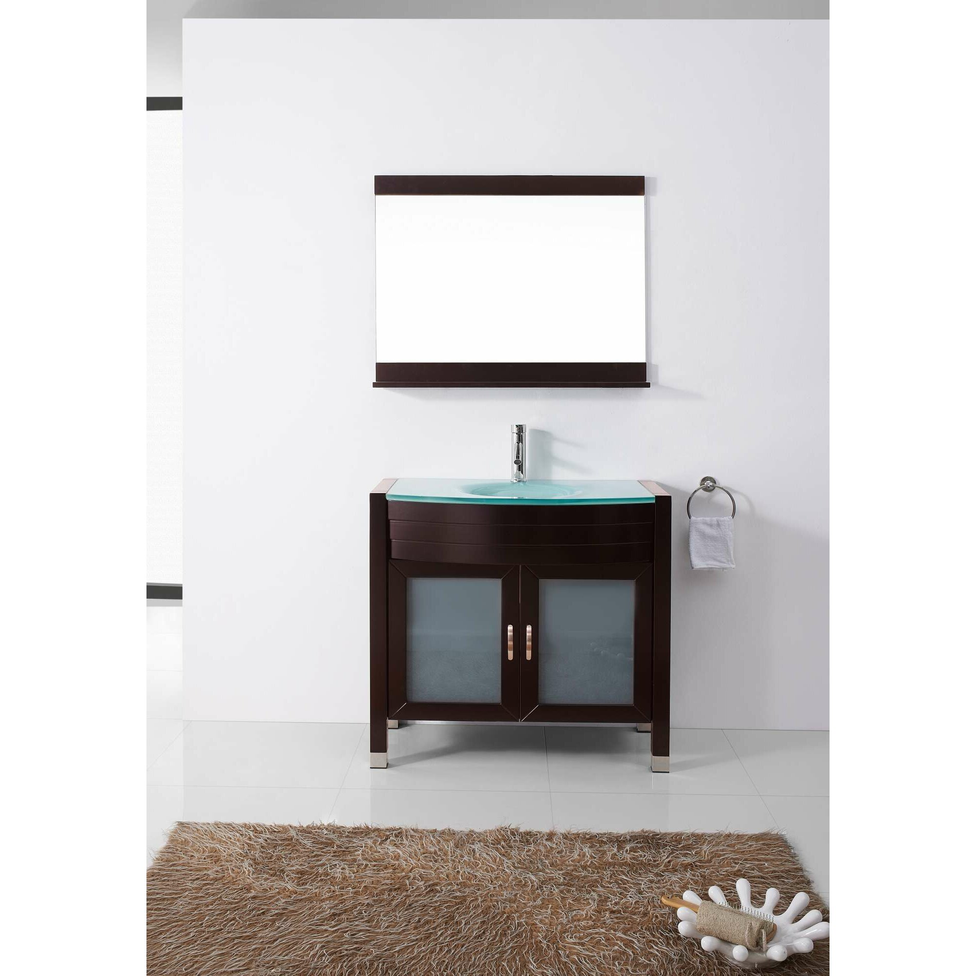 Amazing Virtu Ultra Modern Series 29quot Single Bathroom Vanity Set With Mirror