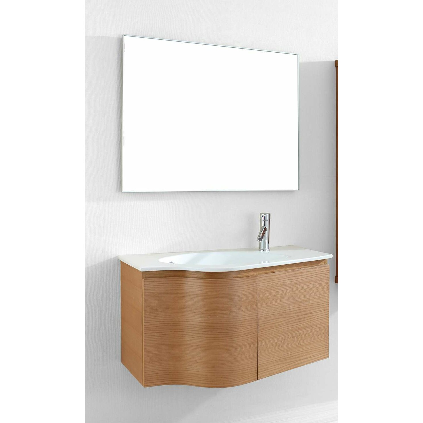 Virtu Roselle 35 Quot Single Floating Bathroom Vanity Set With