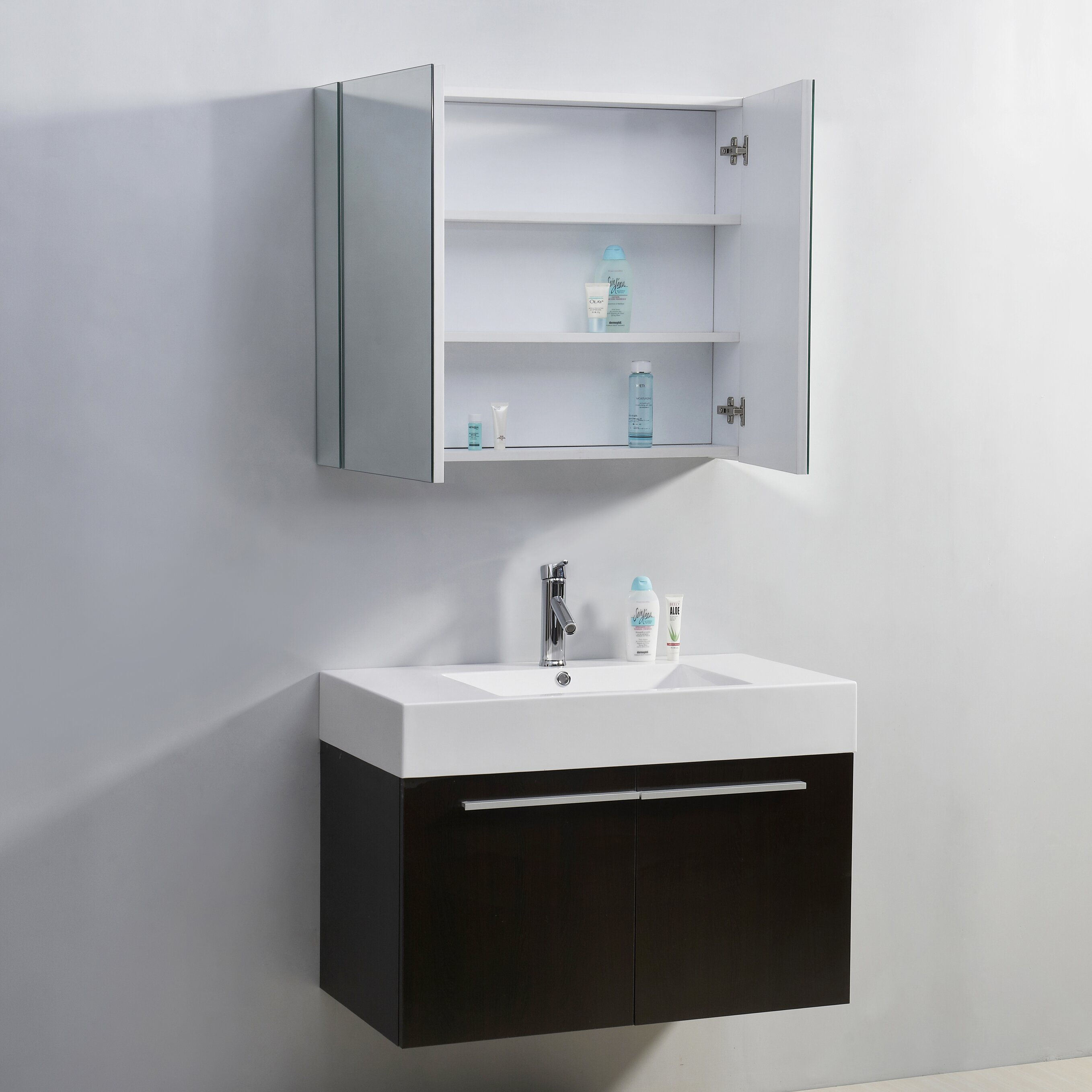 Rever Lofts 35 Quot Single Bathroom Vanity Set With Mirror