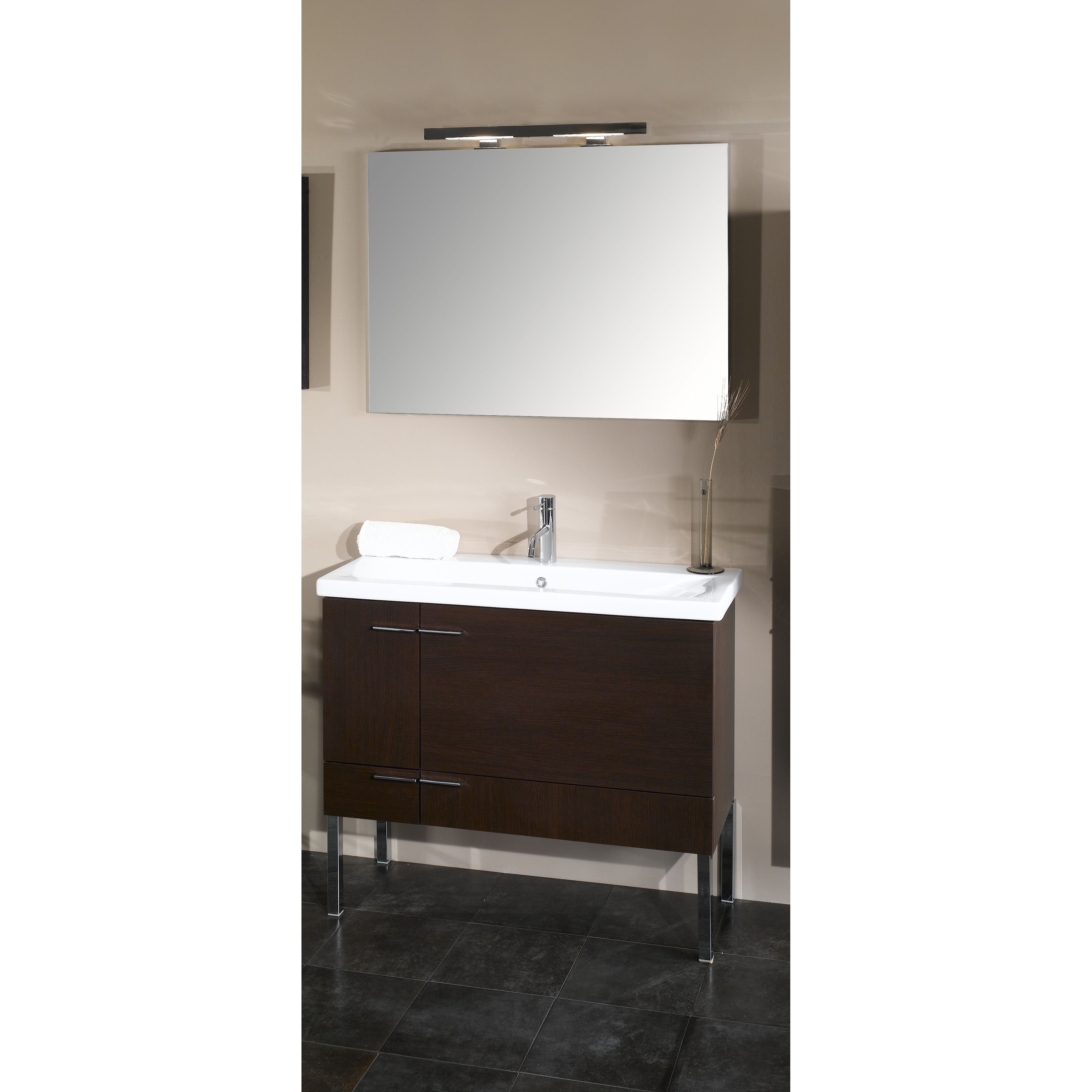 Simple 39 quot single wall mounted bathroom vanity set with