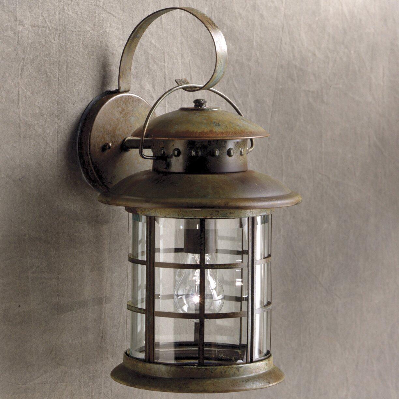 Rustic 1 Light Outdoor Wall Lantern