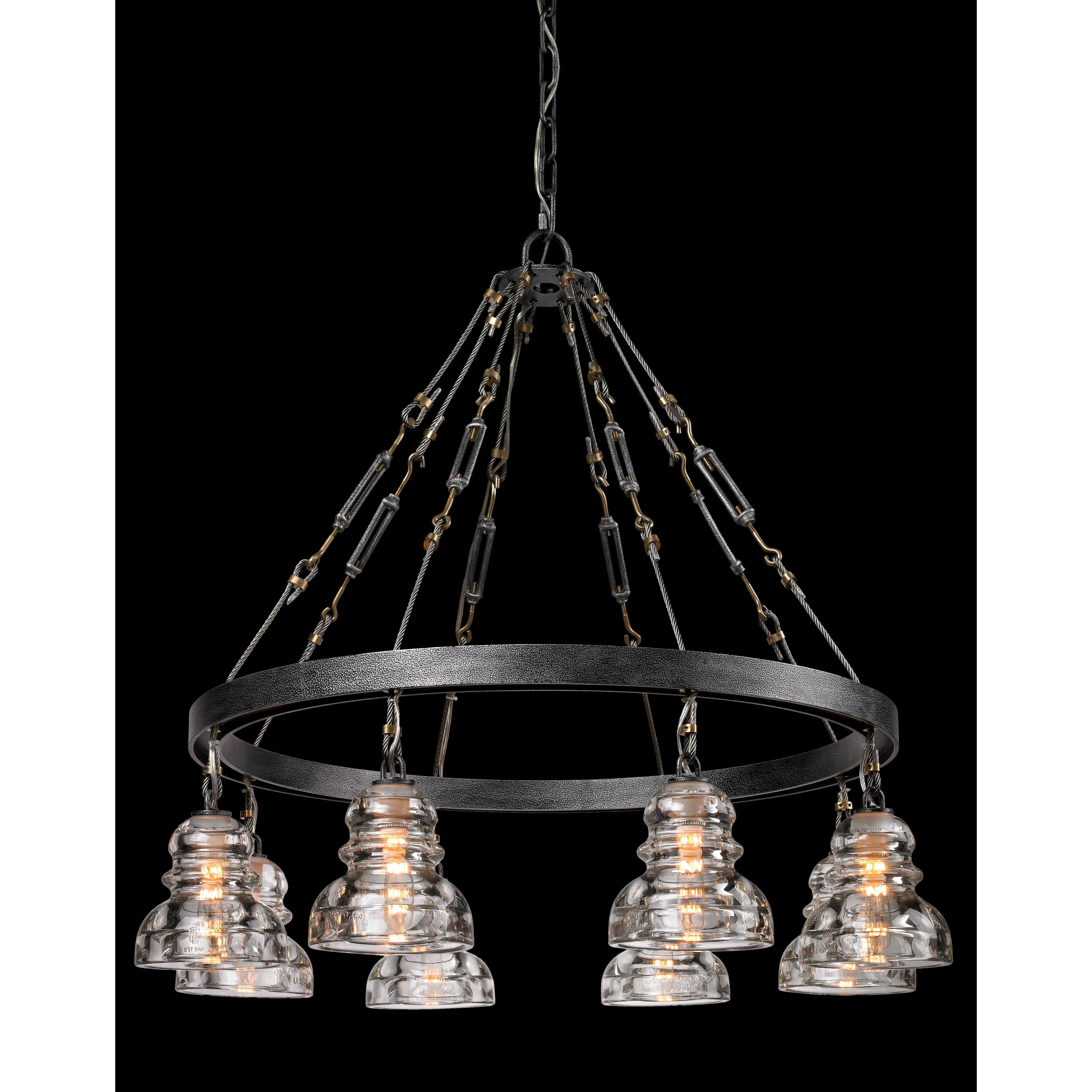 troy lighting menlo park 8 light chandelier reviews wayfair. Black Bedroom Furniture Sets. Home Design Ideas