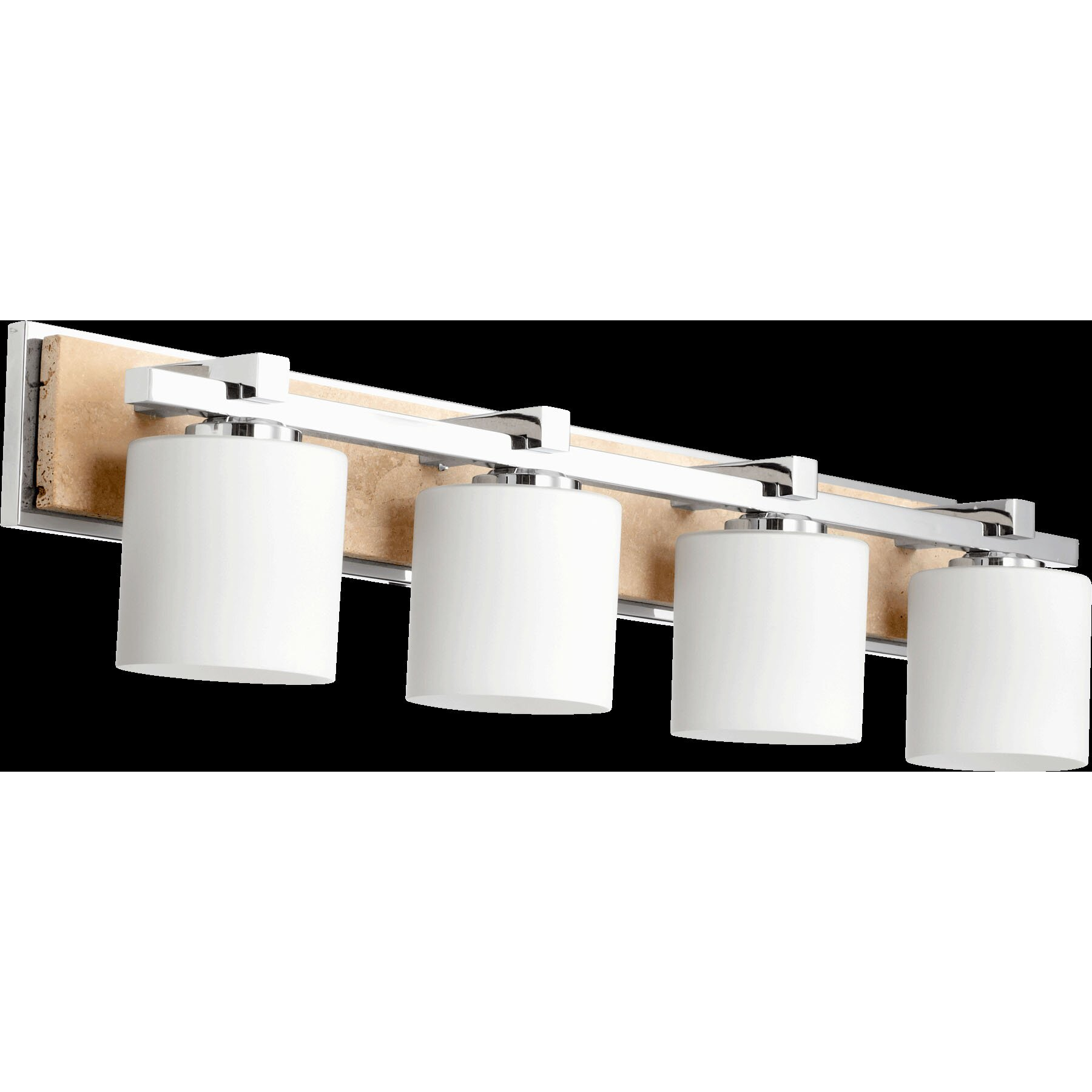 Quorum Vanity Lights : Quorum 4 Light Travertine Vanity Light & Reviews Wayfair