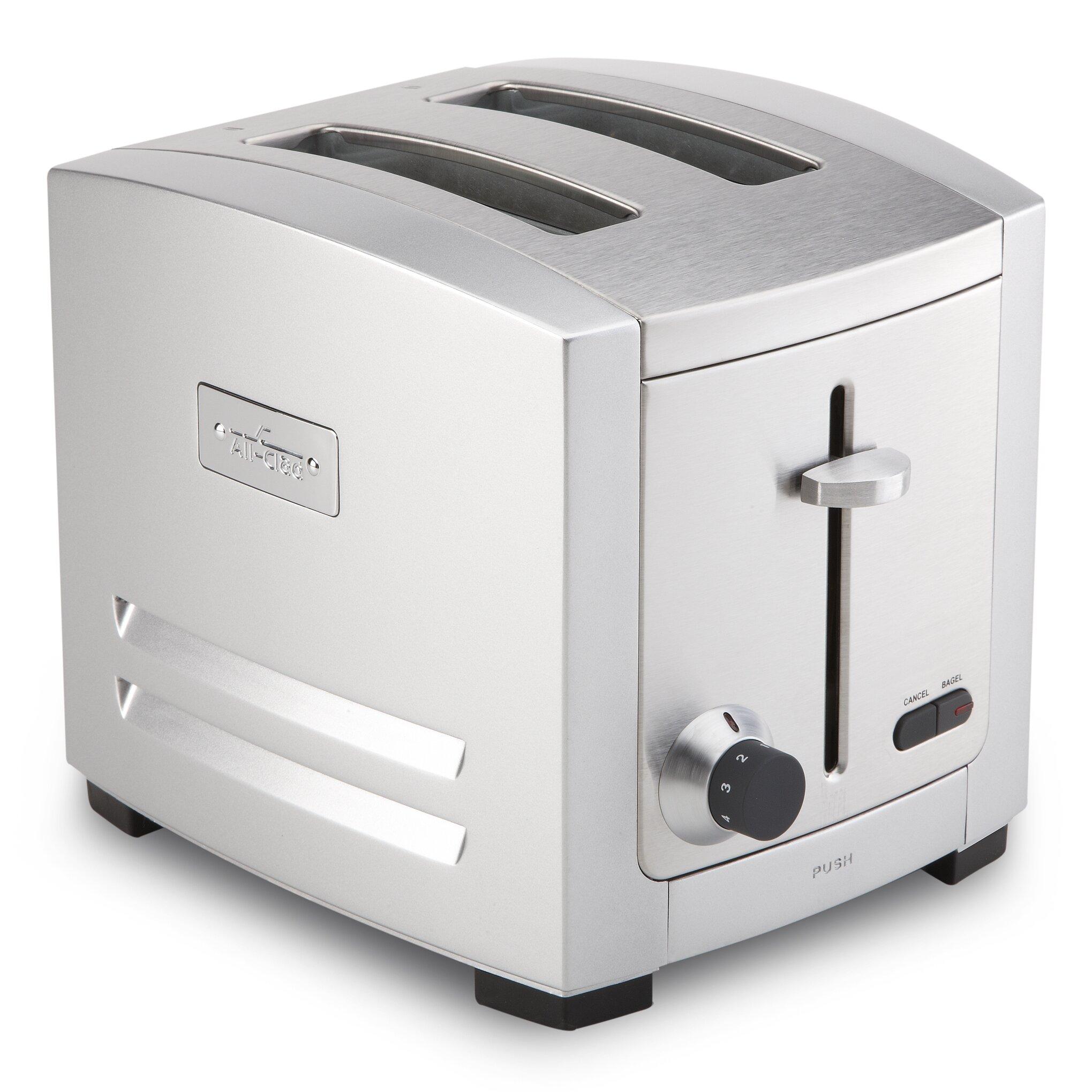 White Clad Ice Box Original All Clad Electrics Slice Toaster Tjd