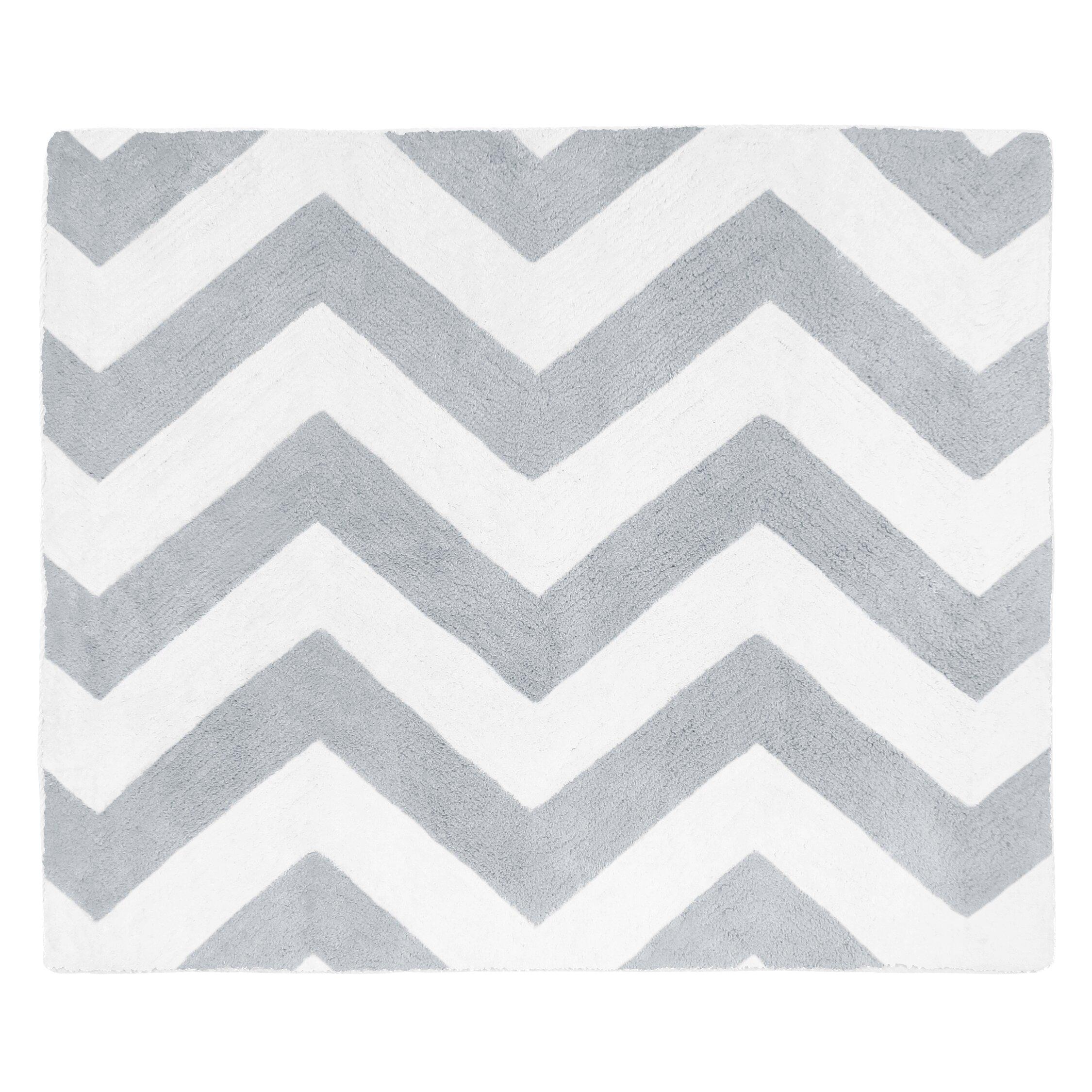 chevron gray white area rug wayfair