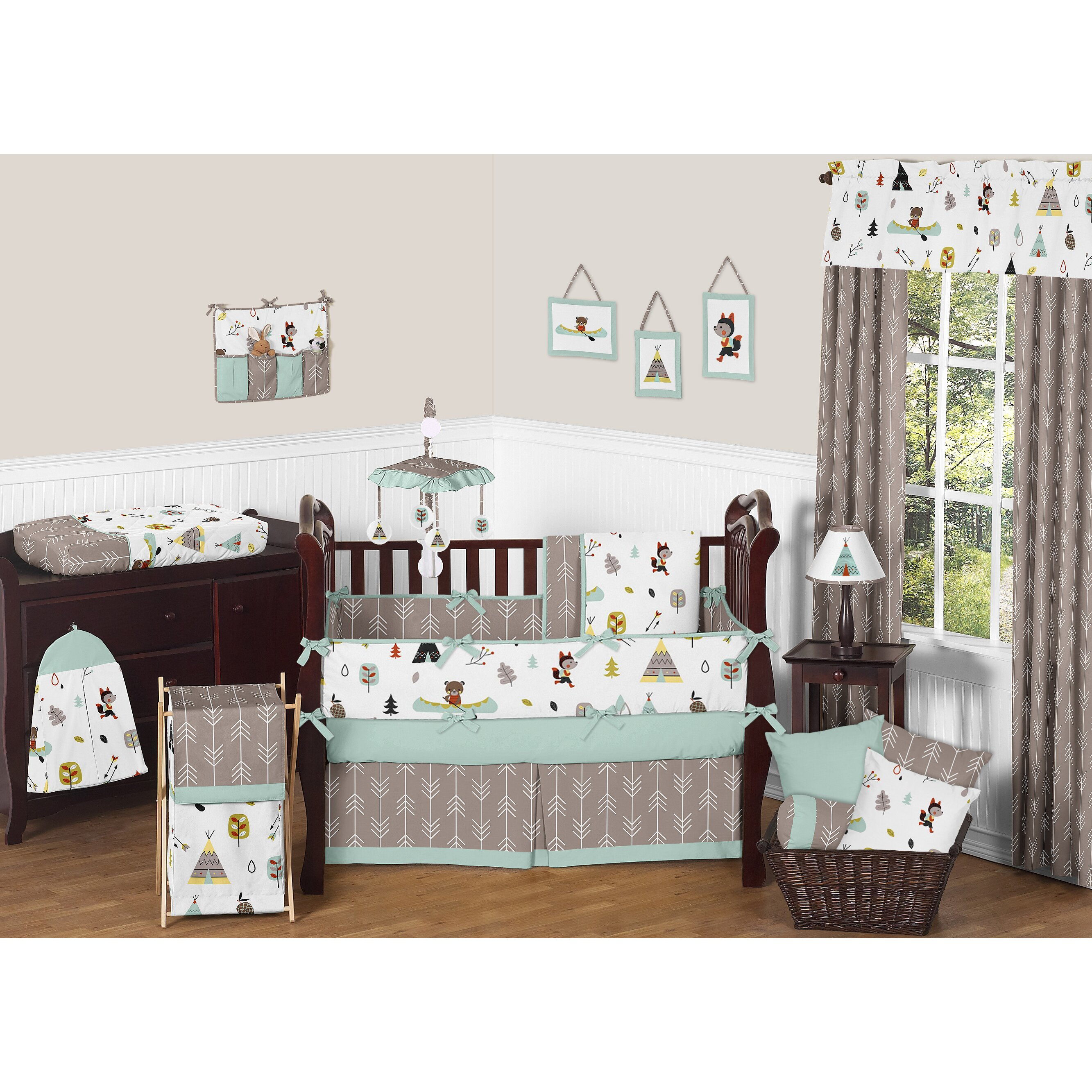 Sweet Jojo Outdoor Adventure Crib Bedding Com
