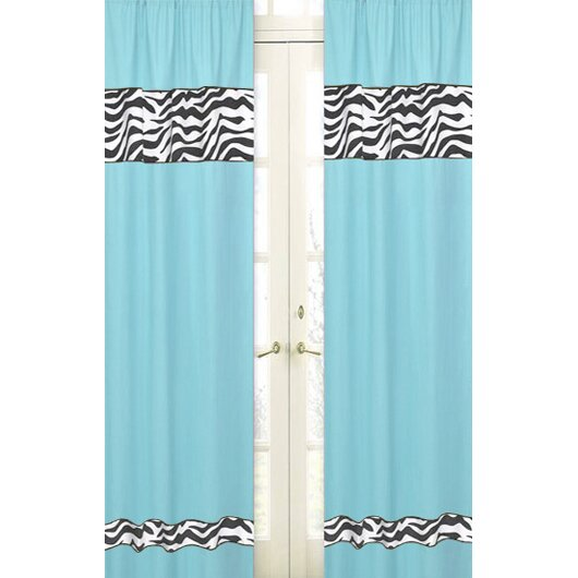 Sweet Jojo Designs Zebra Curtain Panels & Reviews