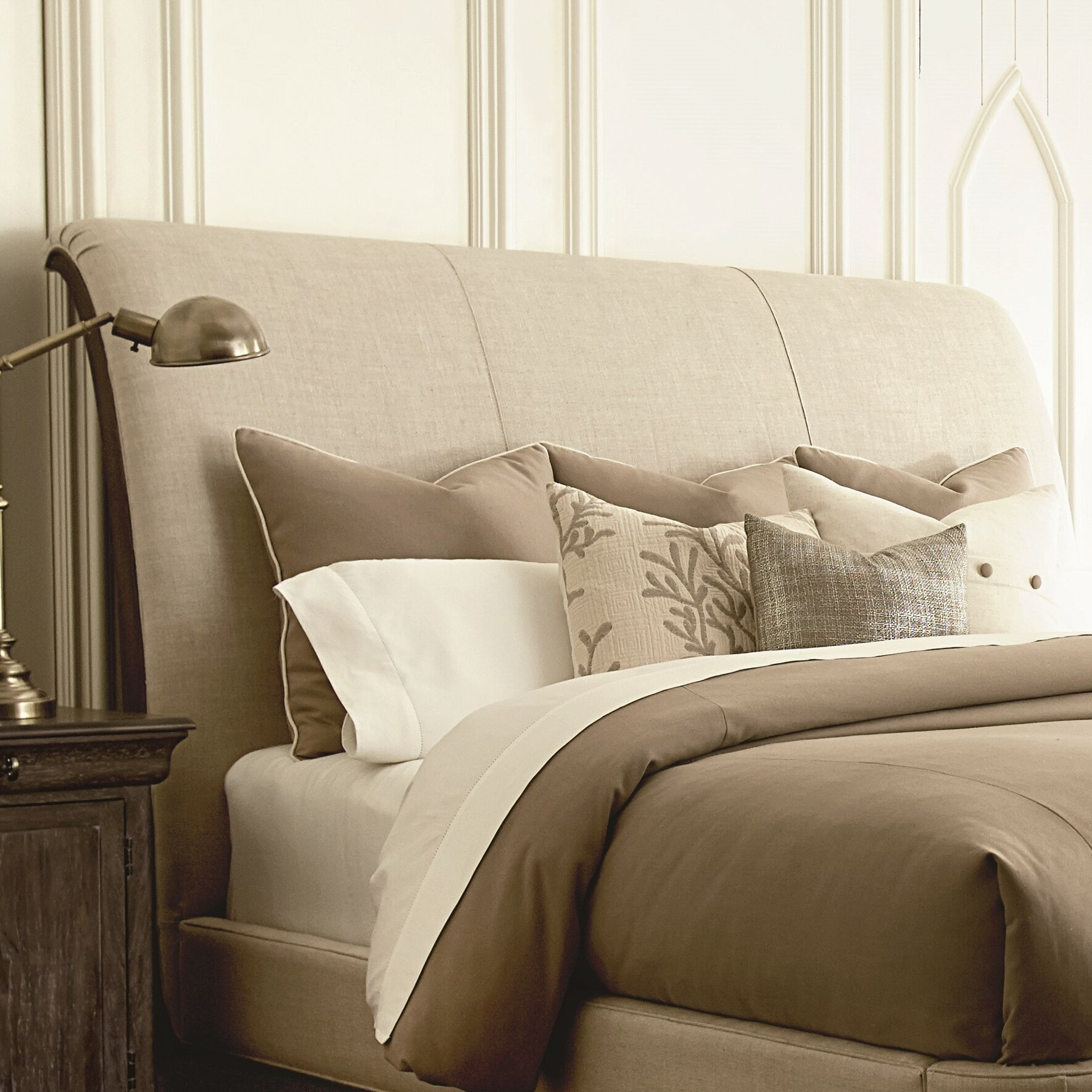 a r t st germain upholstered sleigh bed amp reviews wayfair art furniture st germain 6 piece queen upholstered
