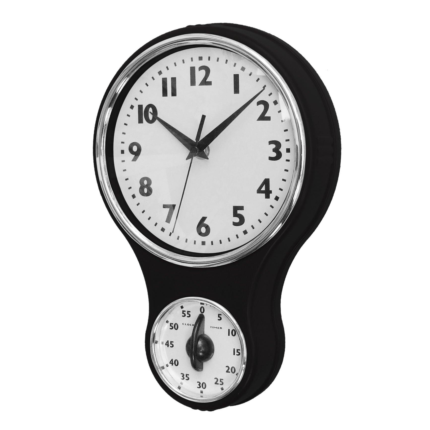 New Haven Retro Kitchen Wall Clock Reviews Wayfair