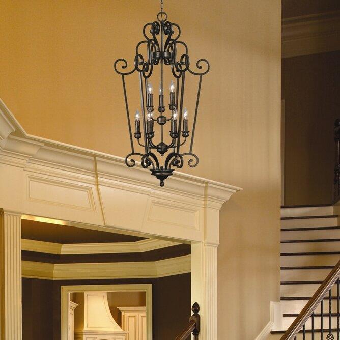 Foyer Ceiling Reviews : Golden lighting heartwood caged foyer pendant reviews