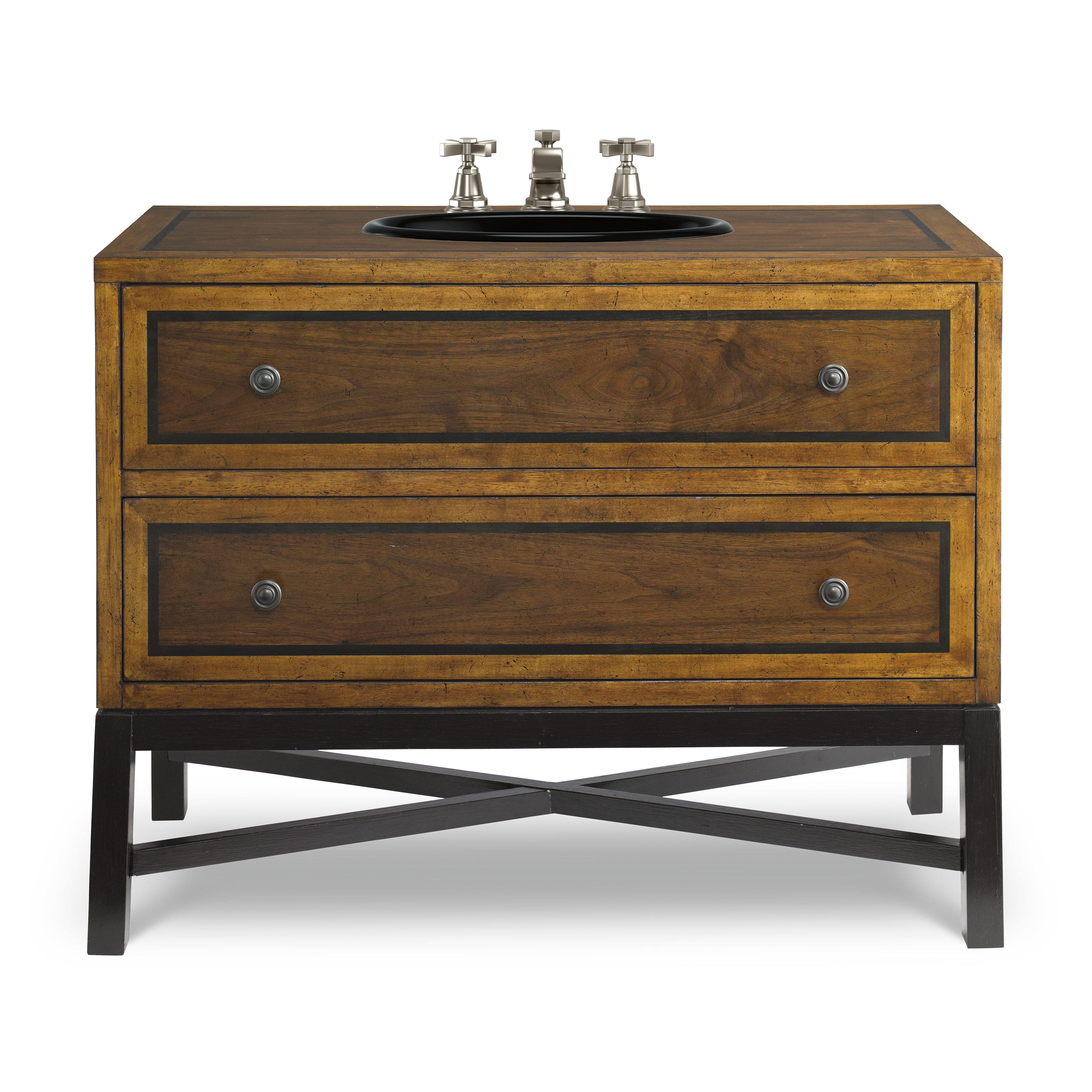 """Designer Series 44"""" Charleston Sink Bathroom Vanity Base ..."""