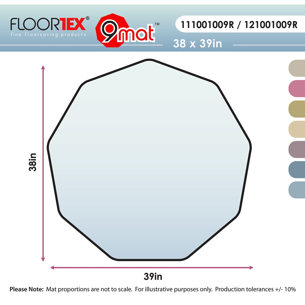 FLOORTEX Cleartex 9 Sided Chair Mat