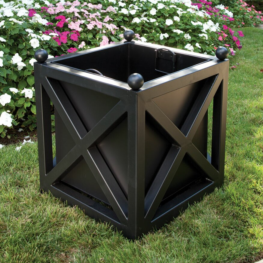 Napa home garden guy wolfe and co square planter box for Wayfair garden box
