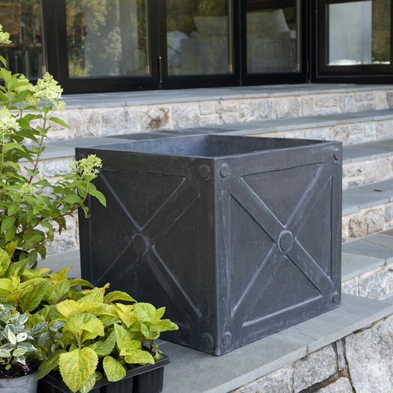 Fibreclay square planter box wayfair for Wayfair garden box