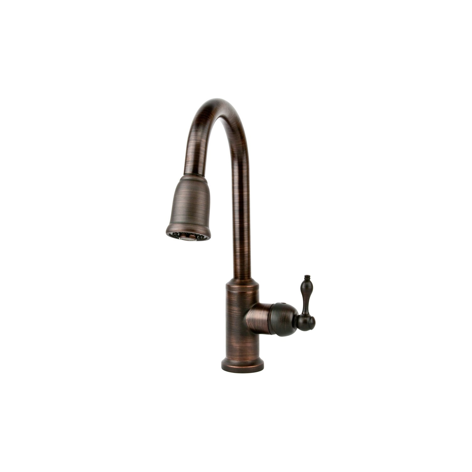 premier copper products single handle kitchen faucet with