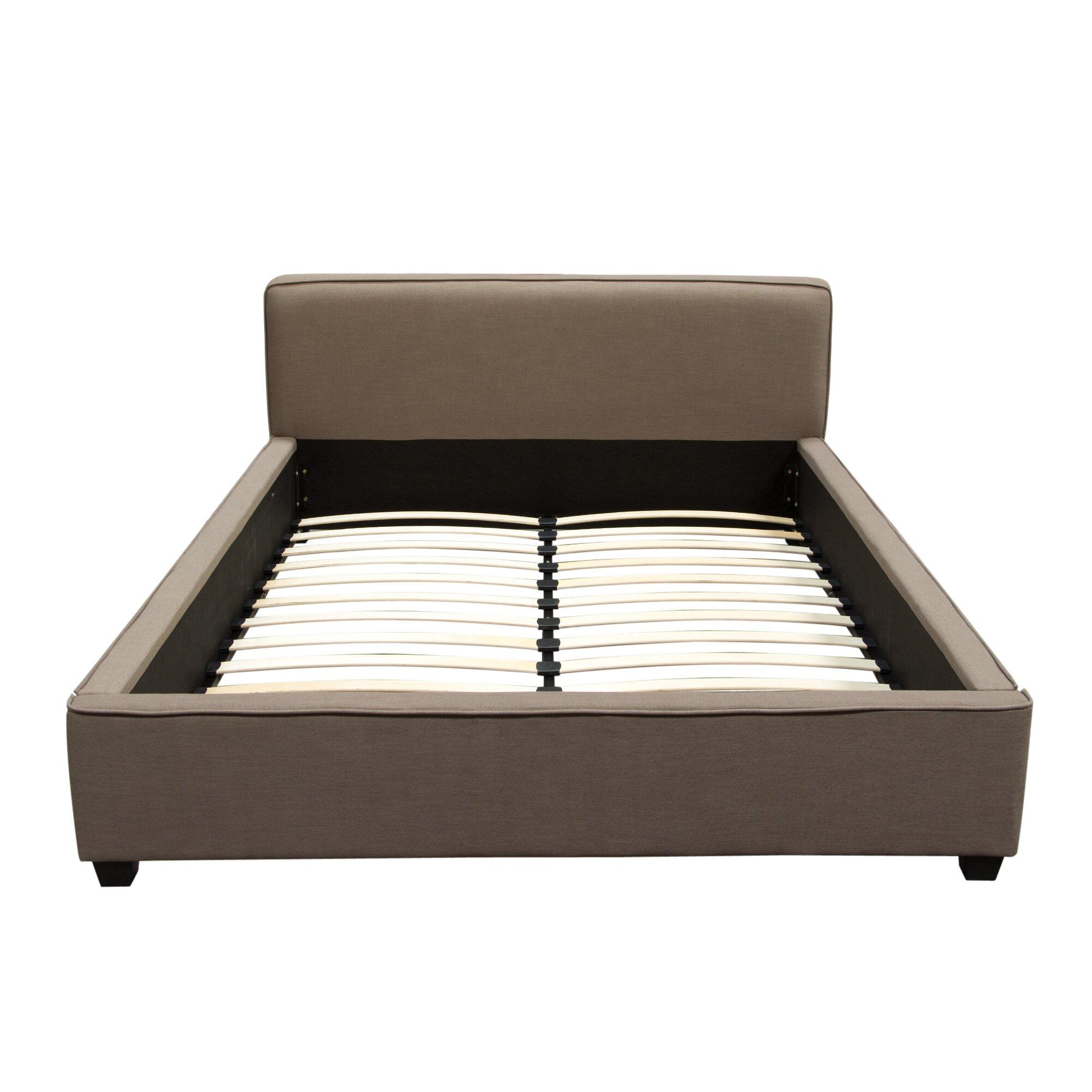 Diamond sofa euro upholstered panel bed reviews wayfair for Sofa 50 euro