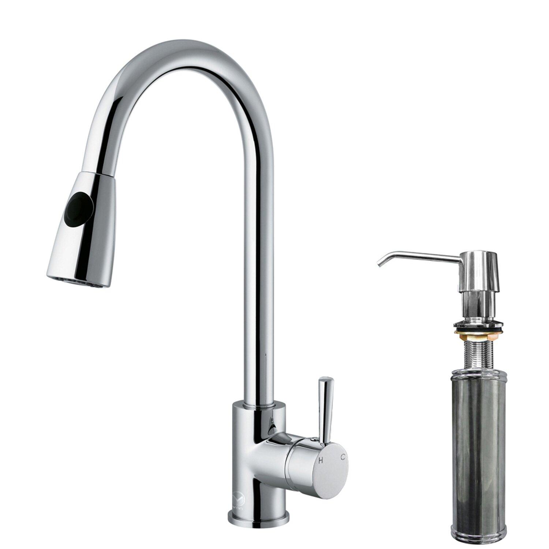 Vigo Weston Single Handle Pull-Down Spray Kitchen Faucet