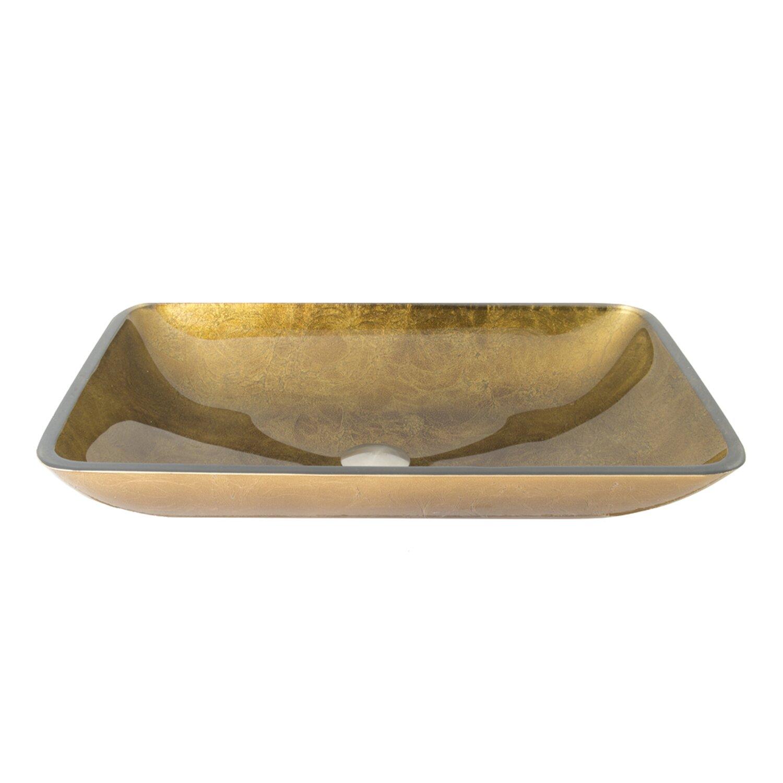 Vigo Rectangular Copper Glass Vessel Bathroom Sink & Reviews Wayfair ...
