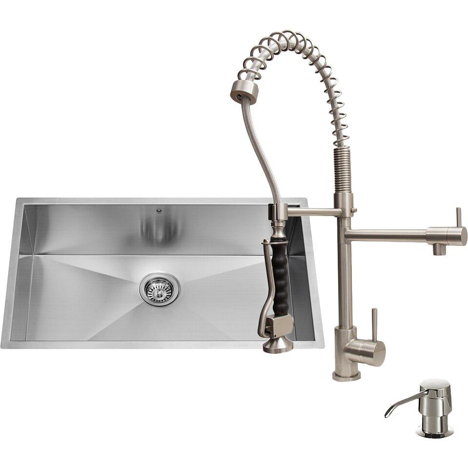 27 Kitchen Sink : Vigo-32-x-27-Undermount-Kitchen-Sink-with-Sink-Faucet-Colander ...