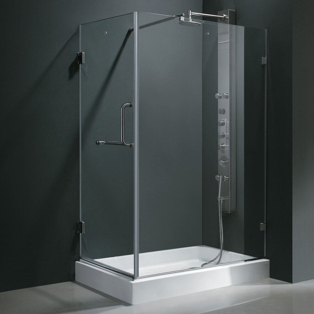 Vigo Pacifica 36 X 48-in. Frameless Shower Enclosure With