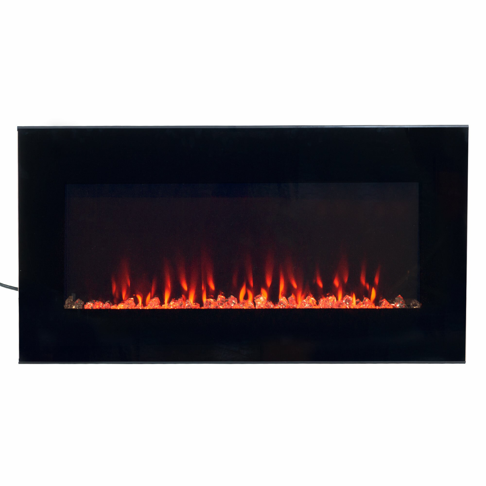 northwest dual color led wall hung electric fireplace