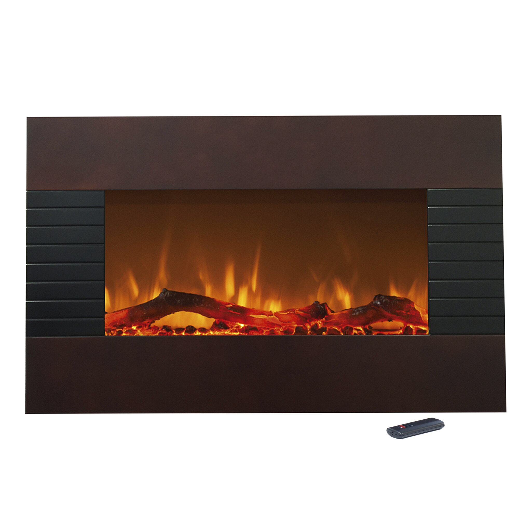 northwest mahogany electric fireplace reviews wayfair