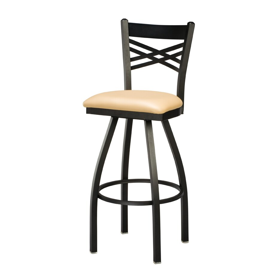 swivel bar stool with cushion wayfair